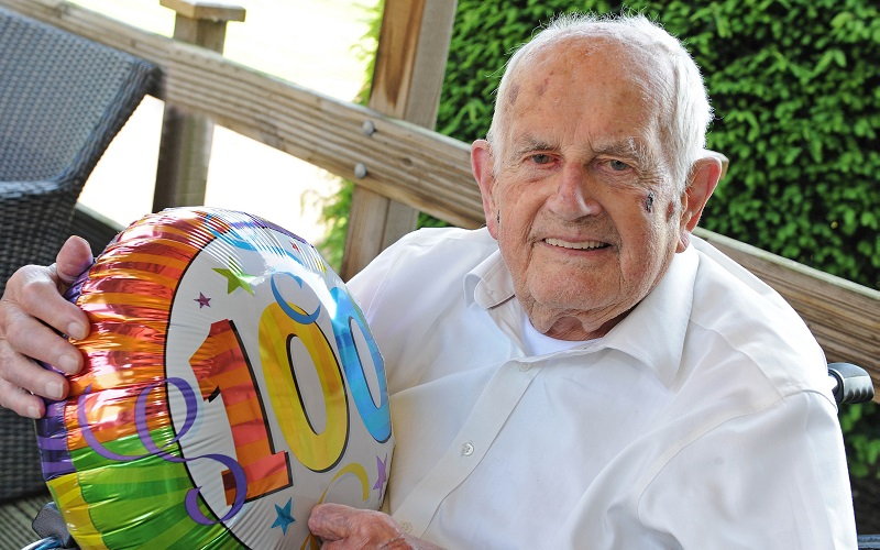 Lord Foster Rochester  celebrating his 100th birthday